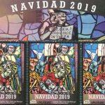 A cartela completa é constituída por nove selos. Foto: Correo Uruguayo
